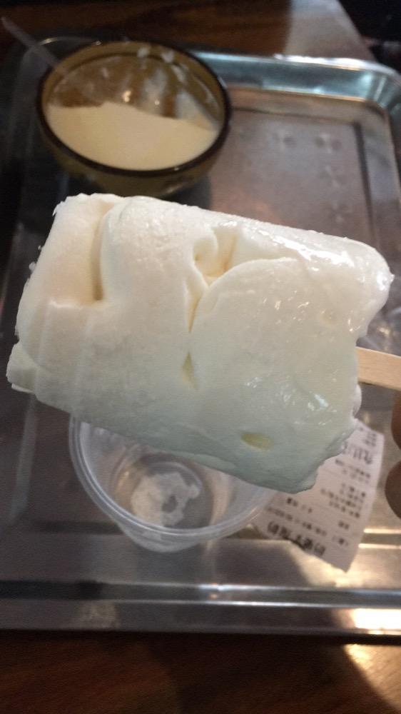 和宝宝去黄埔古港玩吃的酸奶冰棒